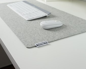 Merino Wool Desk Mats - Desk Pads Made in Canada - With Logo