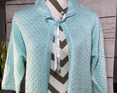 Mint green bed jacket coat ribbon super cute