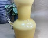 Italian Empoli Cased Butterscotch Art Glass Jug / Vase
