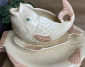 Shorter and Son Ltd Vintage 4 Fish Plates with Matching Gravy Boat and Saucer
