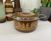 Depositata Siltal Italy Mid Century Dutch Oven Casserole dish Enamelware Enamel mcm mid century modern cookware pot saucepan