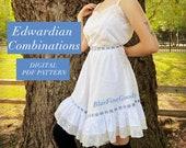 Edwardian Combinations Digital PDF Pattern Sizes 2-14