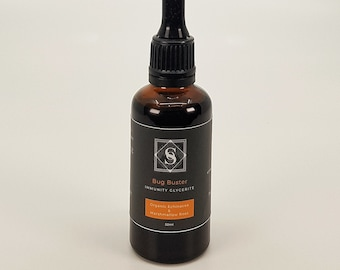 Bug Buster - Organic Herbal Glycerite Tincture | Herbal Supplement with Echinacea & Marshmallow Root
