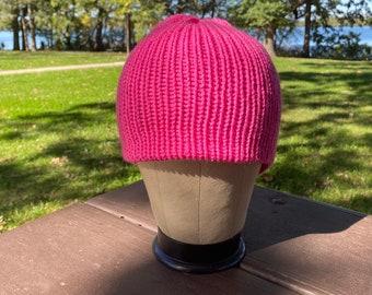 Handmade knitted winter beanie, multiple color options homemade