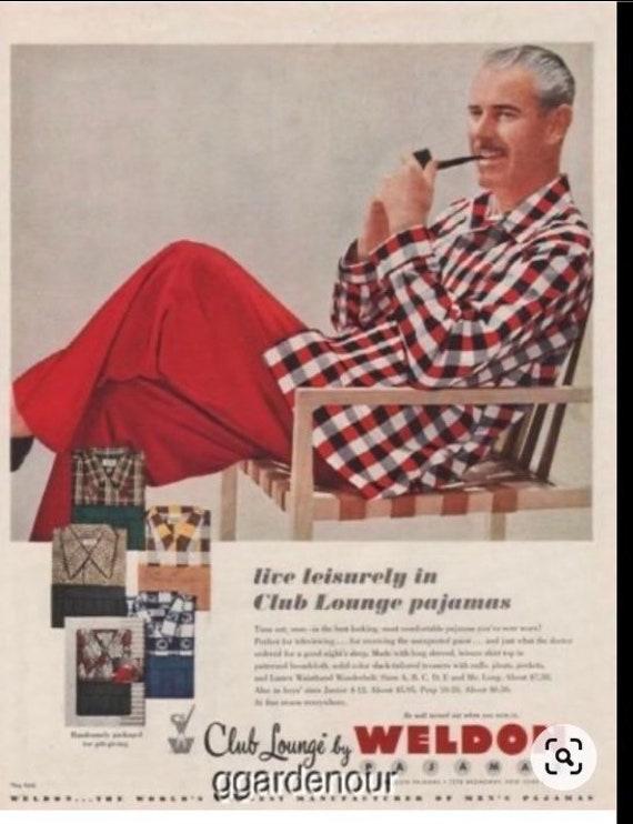 Vintage Rare Weldon 1951 Club Lounge Wear Pajamas