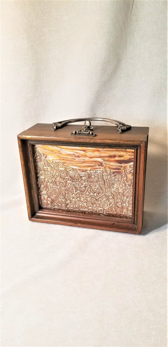 Vintage Box Purse, Wood Box Purse, Women's Accesso
