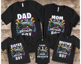 Gamer Custom Family Birthday Shirts