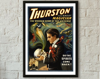 Thurston The Great Magician Devil Whispering Poster 12x18 Inch