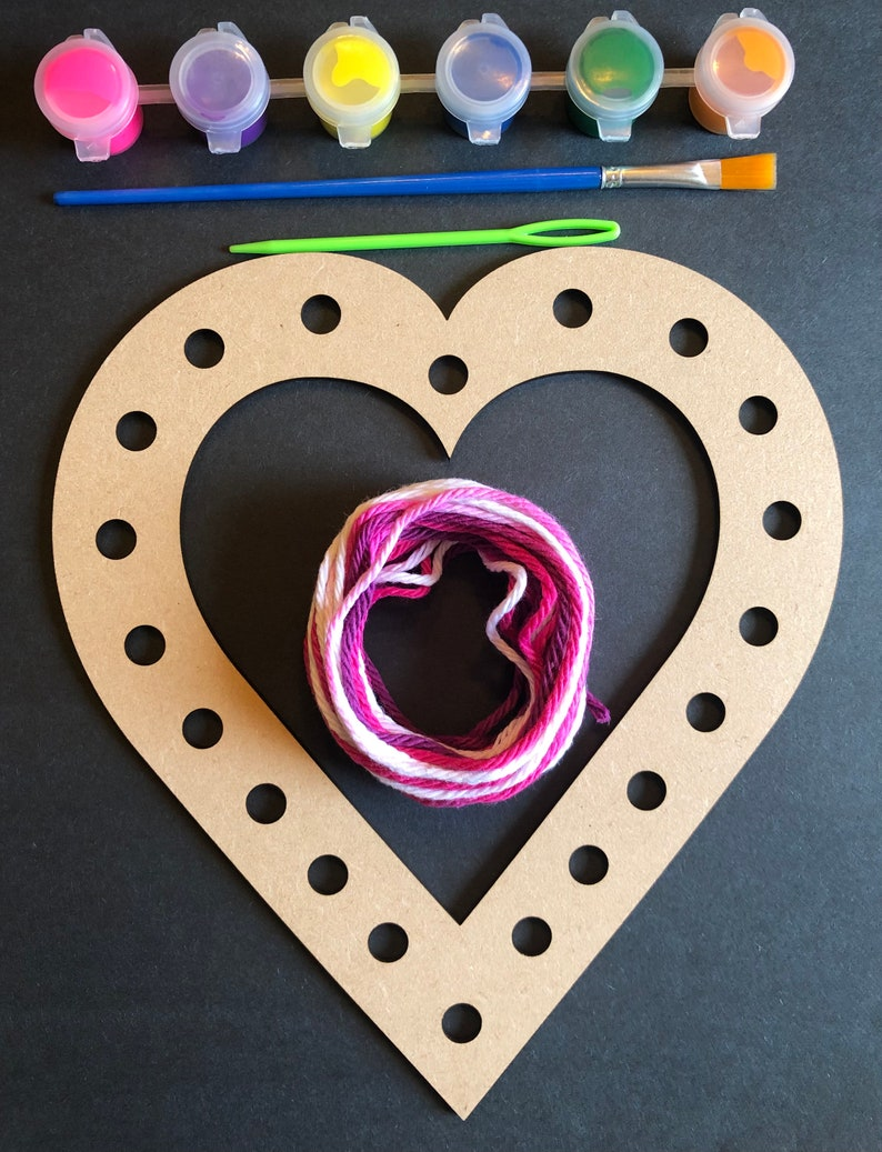 Heart Paint and Weave