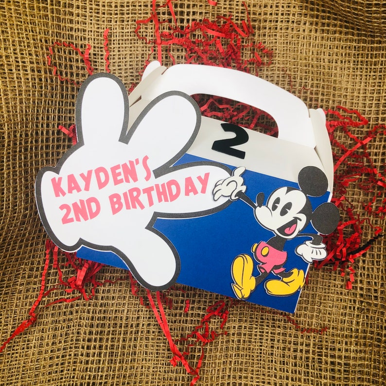 Personalized Mickey Mouse Party Treat Boxes Assorted