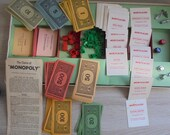 Monopoly Vintage 1961 Complete Retro Collectable Includes Rules and Origional dice Vintage Games Classic