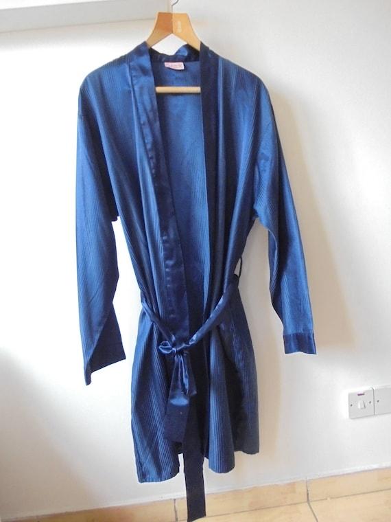 Mens Smoking Jacket Robe / Dressing Gown / Vintage