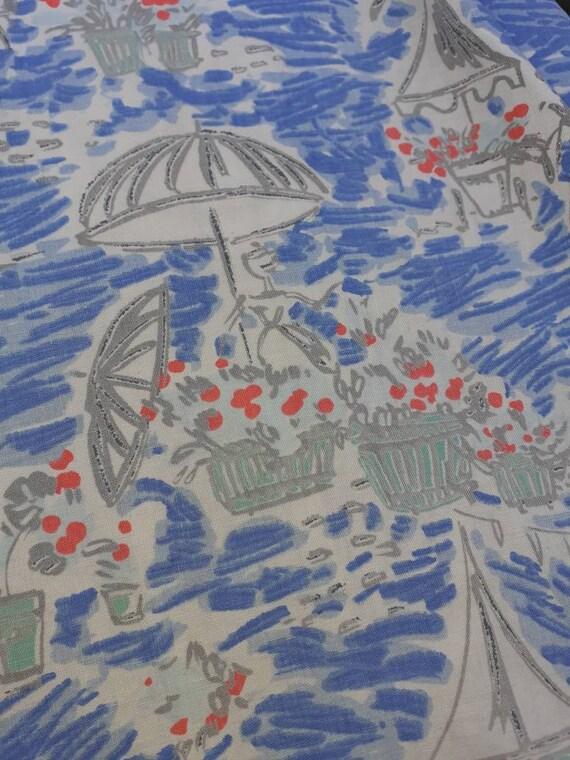 Novelty print 1950s skirt