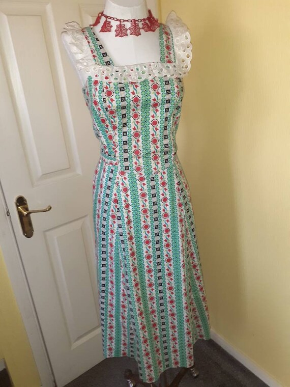 1940s cotton pinafore dress.
