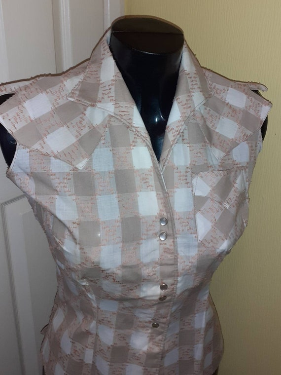 1950s western blouse