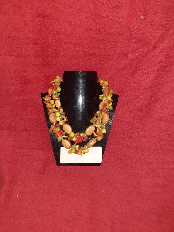 Original 1950s fruit necklace