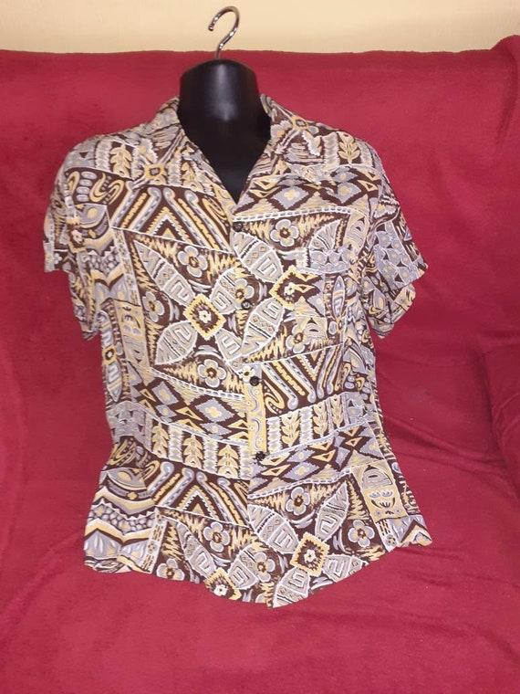 Mens 1940s rayon shirt