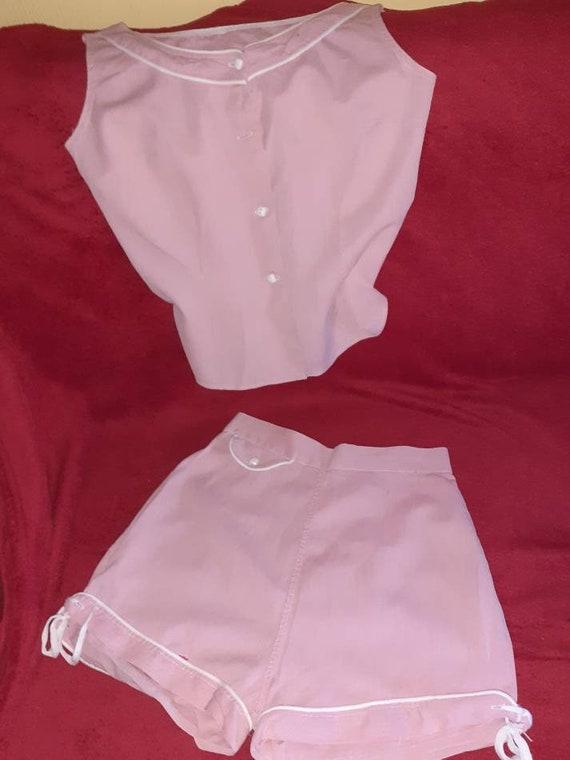 1950s shorts set