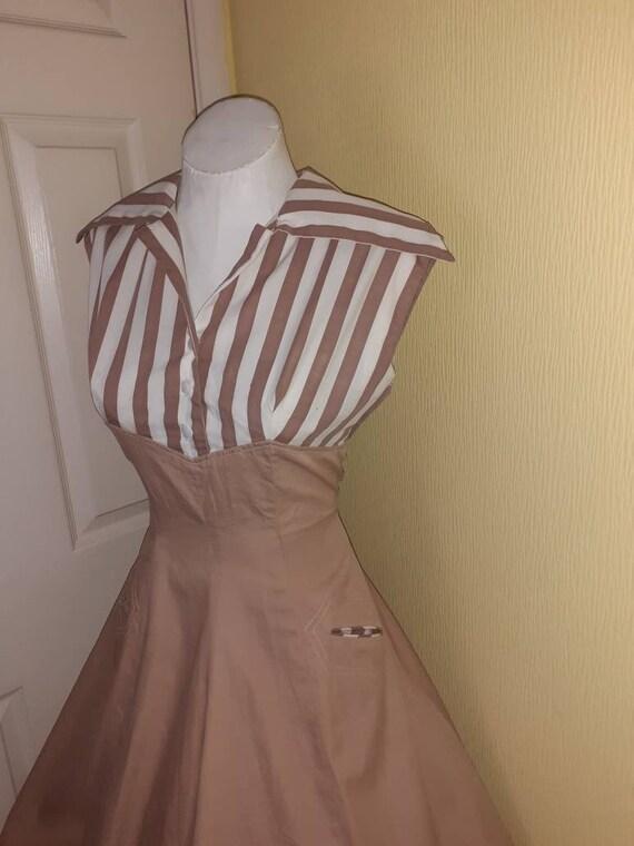 1950s cotton dress