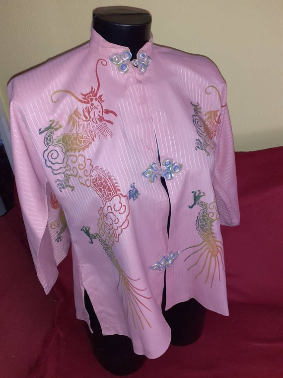 Gorgeous 1940s hand painted blouse