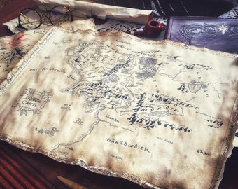 Middle-Earth Map Handmade