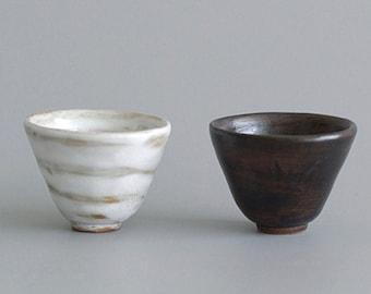 Handmade Ceramic Tea Cups / Japanese Style Stoneware Tea Cups for Kung Fu Tea Ceremony / Small Kung Fu Tea Cups 50ml/1.7oz
