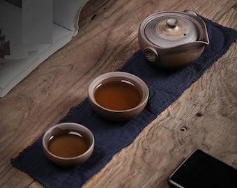 Gaiwan Travel Tea Set with Travel Case   Portable Ceramic Kung Fu Tea Set - 1 Teapot and 2 Cups   Retro Tea Set for 2 - Gift to Tea Lovers