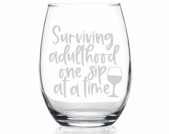 Surviving parenthood one sip at a time Wine Cup