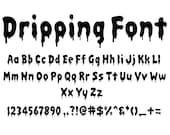 DRIPPING ALPHABET SVG, Instant Download, Dripping Letters Svg, Halloween Font Svg, Bload Font Svg, Monogram Clipart, Svg Files For Cricut