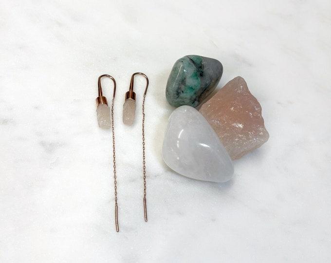 Rose Quartz Earrings and Crystal Kit