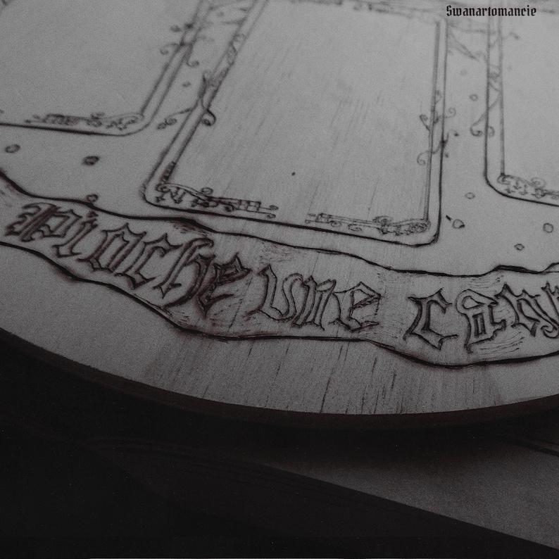 Engraving board for Cartomancie.
