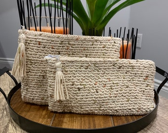 Crochet Pencil Case• Back to School •Crochet Makeup Bag• Crochet Wallet • Gifts for Her • School Supplies • Travel Pouch