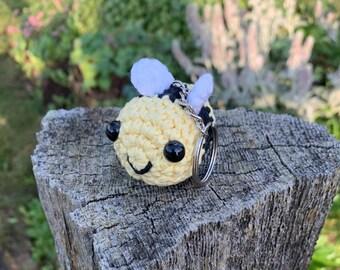 Bee Amigurumi Keychain | Crochet bumblebee | Summer bubblebee