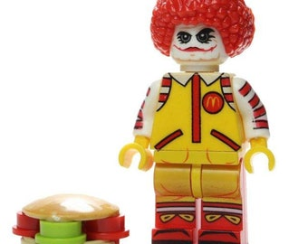 RONALD MCDONALD Custom Carded Minifigure Display Mini-Figure McDonald/'s Clown
