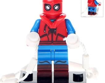 MARVEL Avengers BLACK SPIDERMAN CUSTOM minifigure Big Super Hero/'s Fits LEGO