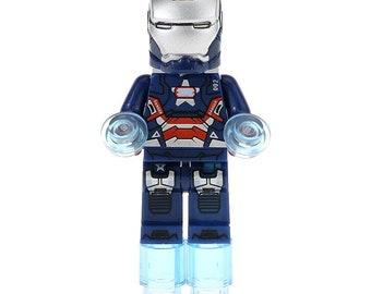 Iron Patriot Hall Of Armor Marvel Ironman Lego Moc Minifigure Gift Toys