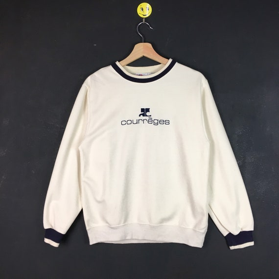Rare!! Courreges sweatshirt Courreges pullover Cou