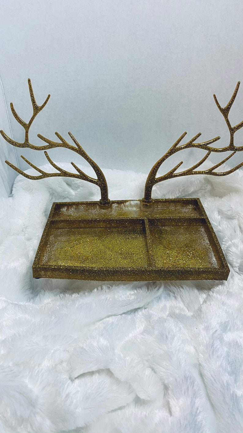 Jewelry organizer with antler ears