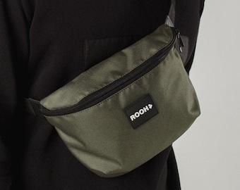 Vegan Khaki Purse Everyday Crossbody Bag Unisex Hipster Bag Tablet Bag Small Canvas Bag