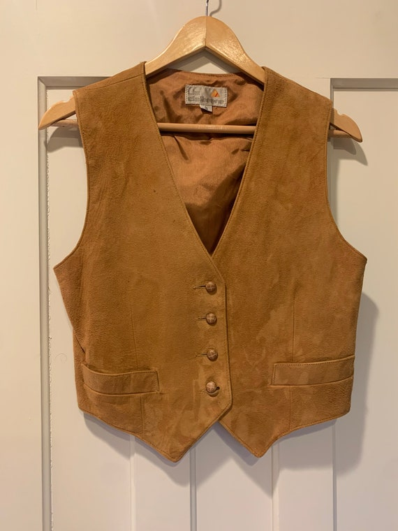 80's Liz Claiborne Suede Vest
