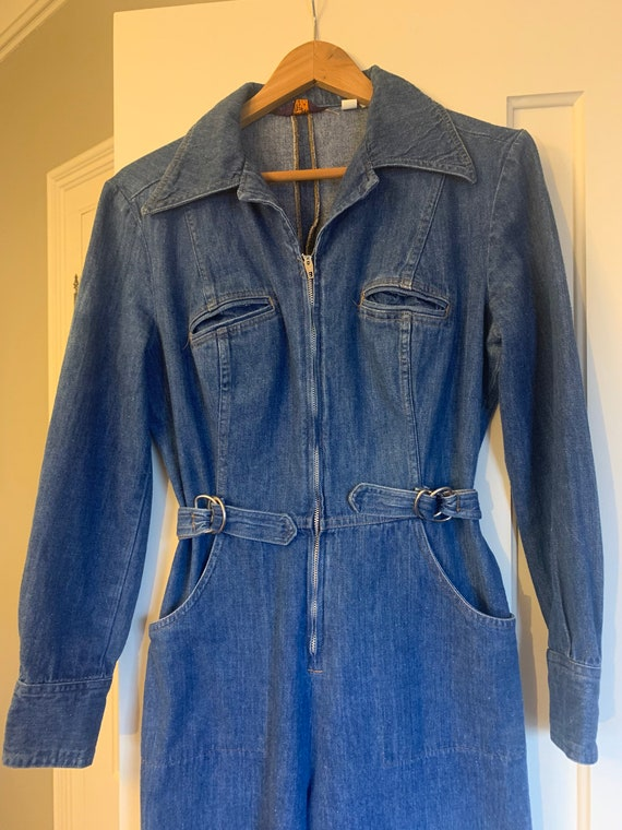 Rare 70's Vtg Land Lubber Denim Jumpsuit