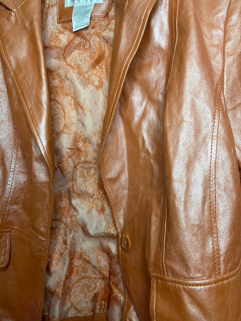 Peach Leather Jacket