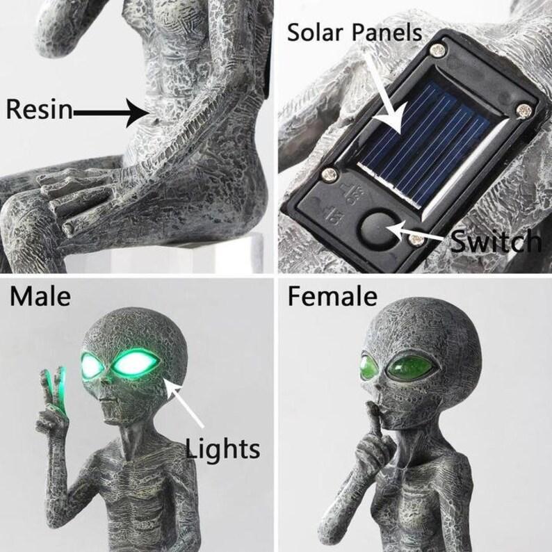 Alien Solar-Light Statue Set Garden Decor-outdoor 室内形象4