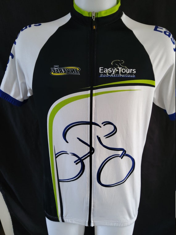 Italian Made Sleeveless Cycling Jersey Cycle Shirt Bike Jersey Size L but See Below Retro Cycle Quality Cycle Jersey Print Bike Top