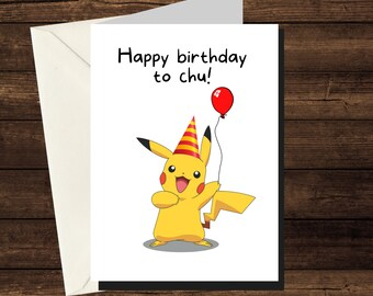 Personalised Pokemon greeting card congratulations card Pokemon birthday card Pokemon invite happy birthday Pokemon Pikachu card