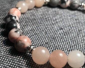 Pink Zebra Jasper Orange Moonstone Black Hematite Aqua Blue Amazonite Malachite African Green Opal Natural 8mm Stones