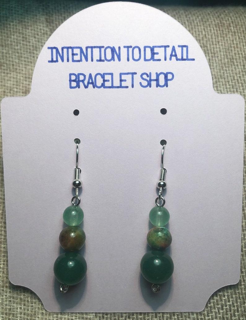 Ruby Kyanite and Aventurine Intention Earrings
