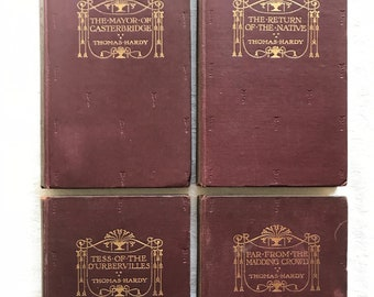 THOMAS HARDY - 1916 to 1917 Editions of Macmillan's Pocket Hardy books from The Wessex Novels
