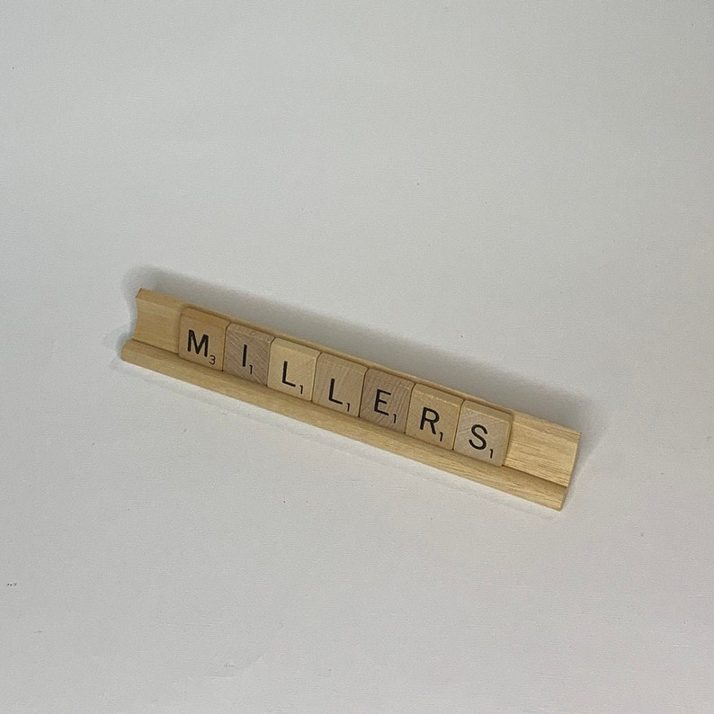 Scrabble Tray Name Plate