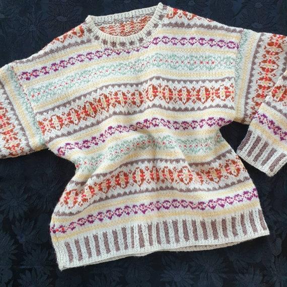 Vintage 60s hand-knitted fairisle jumper